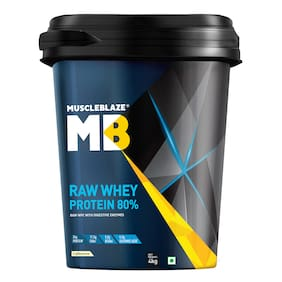 Muscleblaze Raw Whey Protein 80% 8.8 lb/4 kg - Unflavored