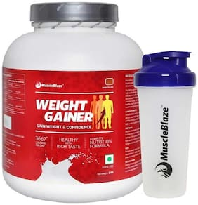 Muscleblaze Weight Gainer 6.6 Lb/3 kg - Chocolate (Free Shaker)