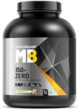 Muscleblaze Iso-zero Zero-carb 100% Whey Protein Isolate (Dutch Vanilla;2 Kg / 4.4 lb)