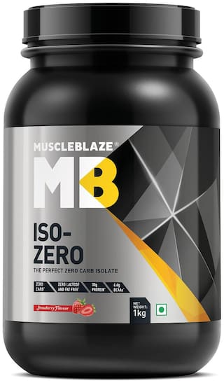 MuscleBlaze Iso - Zero 2.2 lb /1 kg - Strawberry