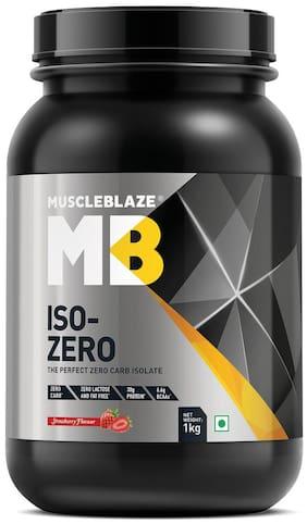 MuscleBlaze Iso - Zero 2.2 lb /1 kg - Strawberry