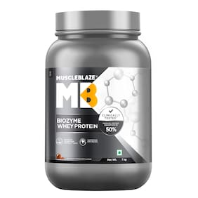 MuscleBlaze Biozyme Whey Protein (1 kg;Ice Cream Chocolate)