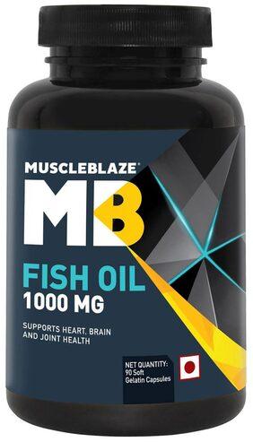 Muscleblaze Fish Oil 1000 mg - 90 Soft Gelatine Capsules