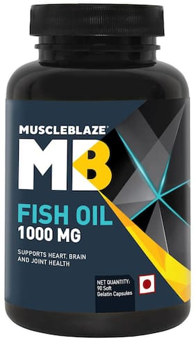 Muscleblaze Fish Oil 1000 mg - 90 Soft Gelatine Capsules