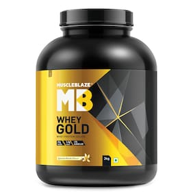 MuscleBlaze Whey Gold 100% Whey Protein Isolate (Gourmet Vanilla; 2kg / 4.4 lb)