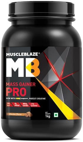 Muscleblaze Mass Gainer Pro With Creapure 2.2 lb/1 kg - Chocolate