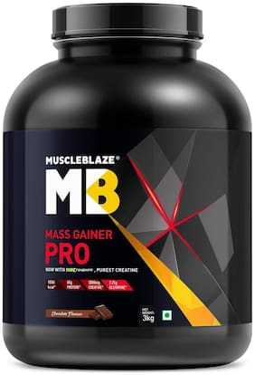 Muscleblaze Mass Gainer Pro With Creapure 2.2 lb/3 kg - Chocolate