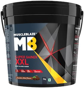 MuscleBlaze Super Gainer XXL, 11 lb/ 5 kg Chocolate Mint Pack of 1