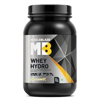 MuscleBlaze Whey Hydro Whey Protein Isolate (1 kg, French Vanilla)