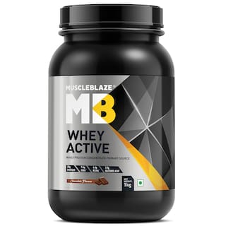 MuscleBlaze Whey Active ,1 kg / 2.2 lbs Chocolate