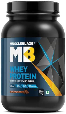Muscleblaze Whey Protein 2.2 lb/1 kg - Rich Milk Chocolate