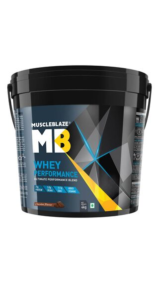 MuscleBlaze 70% Whey Performance Protein (Chocolate  4 Kg / 8.8 lb)  (Pack of 1)