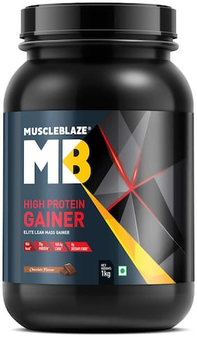 MuscleBlaze High Protein Lean Mass Gainer (Chocolate  2.2 lb / 1 Kg)