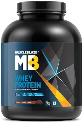 MuscleBlaze Whey Protein (2kg, Smooth Chocolate) Pack of 1