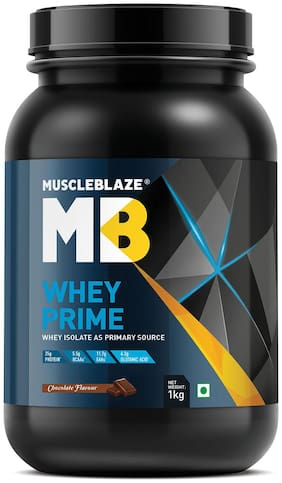 MuscleBlaze 80% Whey Prime Protein (Chocolate, 1 kg / 2.2 lb)