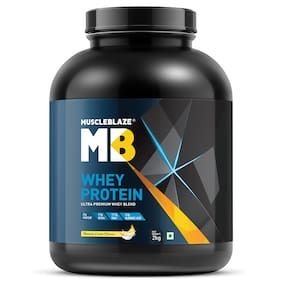MuscleBlaze 100% Whey Protein (Banana Cream;2 kg / 4.4 lb;60 Servings)