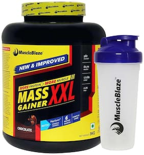 Muscleblaze Mass Gainer XXL 6.6 lb/3 kg - Chocolate (Shaker Free)