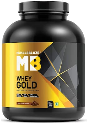 MuscleBlaze Whey Gold Whey Protein Rich Milk Chocolate 2 kg