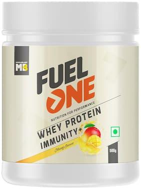 MuscleBlaze Fuel One Whey Protein Immunity+, 1.1 lb / 500g Mango Pack of 1