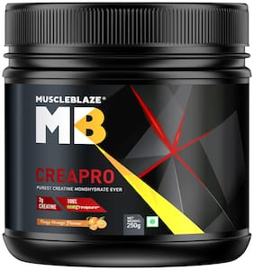 MuscleBlaze Creapro Creatine Monohydrate 250gm Tangy Orange (Pack of 1)