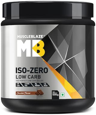 Muscleblaze Iso-zero Low carb 100% Whey Protein Isolate (Chocolate;0.5 Kg / 1.1 b)