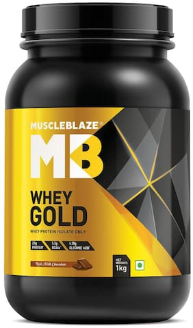 MuscleBlaze Whey Gold 2.2 lb /1 kg - Rich Milk Chocolate