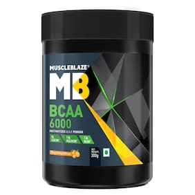 MuscleBlaze BCAA 6000 200 gm - Tangy Orange