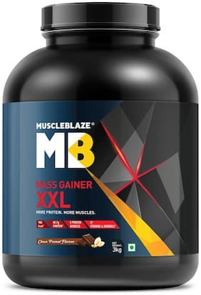 MuscleBlaze Mass Gainer XXL (Chocolate Peanut Butter;3 kg / 6.6 lb)