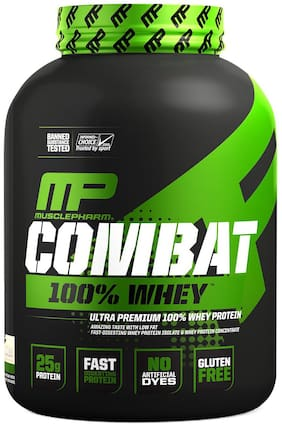 MusclePharm Combat 100% Whey Vanilla 73 Servings 5 lb
