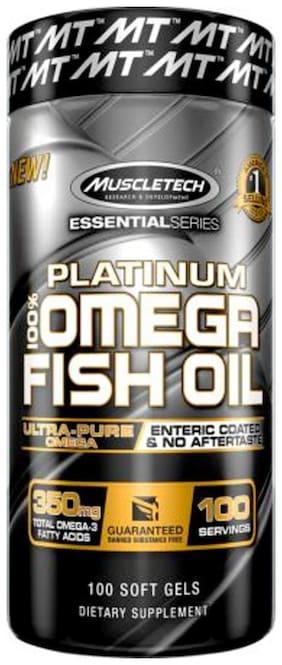 Muscletech Essential Series Platinum Fish Oil - 100 Capsules 141 g