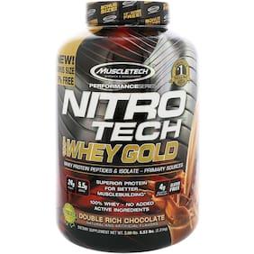 Muscletech Muscletech, Nitro Tech, 100% Whey Gold, Double Rich Chocolate, 5.53 lbs (2.51 kg)