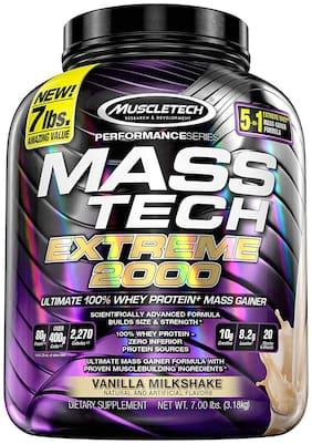 Muscletech Mass Gainer Protein Powder | Mass-Tech Extreme 2000 | Muscle Builder Whey Protein Powder | Protei na + Creatina Monohidrato + Carbohidrato 3.18 kg