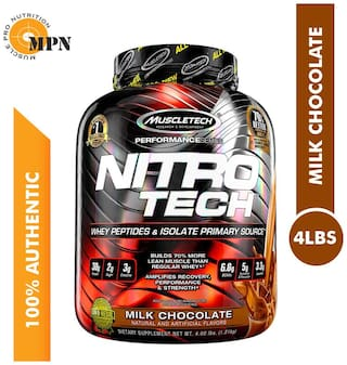 Muscletech Performance Series Nitrotech Whey Isolate + Lean Muscle Builder 1.81 kg- Milk Chocolate