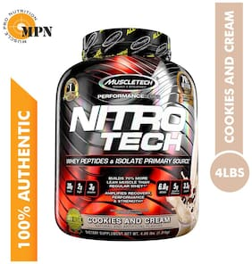 Muscletech Performance Series Nitrotech Whey Isolate + Lean Muscle Builder 1.81 kg- Cookies & Cream