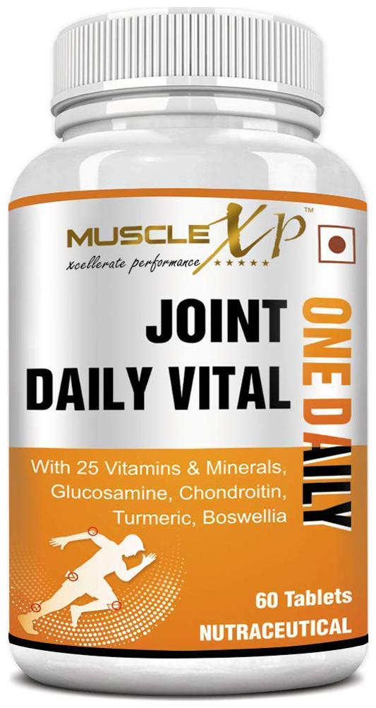 MuscleXP Joint Daily Vital One Daily MultiVitamin with Glucosamine, Chondroitin, Turmeric   60 Tablets by Emmbros Overseas Lifestyle