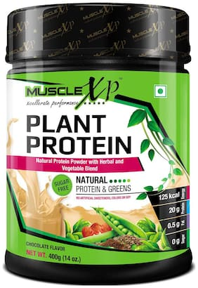 MuscleXP Plant Protein Powder With Herbal And Vegetable Blend 400g