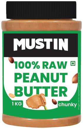 MUSTIN Raw Peanut Butter Chunky 1kg