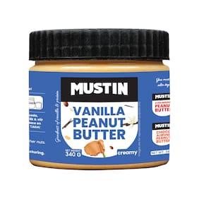 Mustin Vanilla Peanut Butter Creamy 340 g (Pack of 1)