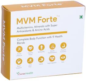 Curae Health MVM Forte   Complete Multivitamins & Minerals with 9 Health Blends. 60 Vegan Tablets.