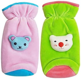 My Newborn High Quality Daily Use Attractive Teddy Velvet Bottle Cover - Pack of 2