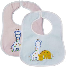 My NewBorn Original-Premium Quality Super Soft Daily Use Water Absorbent One Side Towel And One Side Plastic Velcro Bibs For Baby Boy And Baby Girl