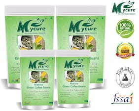 Mycure Green Coffee Beans Decaffeinated & Unroasted Coffee Beans For Weight Management 100x4  g