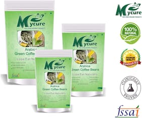 Mycure Green Coffee Beans Decaffeinated & Unroasted Coffee Beans For Weight Management 50x3 g