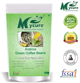 Mycure Green Coffee Beans Decaffeinated & Unroasted Coffee Beans For Weight Management 100gm