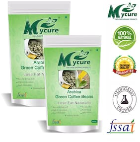 Mycure Green Coffee Beans Decaffeinated & Unroasted Coffee Beans For Weight Management 500x2 g