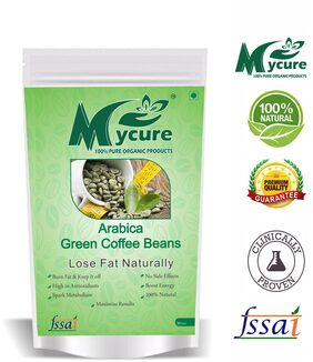 Mycure Green Coffee Beans Decaffeinated & Unroasted Coffee Beans For Weight Management 50gm