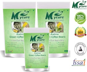 Mycure Green Coffee Beans Decaffeinated & Unroasted Coffee Beans For Weight Management 250x3g