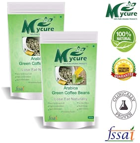 Mycure Green Coffee Beans Decaffeinated & Unroasted Coffee Beans For Weight Management 200x2gm