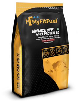 MyFitFuel Advance MFF Whey Protein 80 (500 g) 1.1 lbs Vanilla Creme 14 Servings