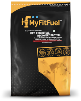 MyFitFuel Essential Recovery Protein 500 g (1.1 lbs) Double Rich Chocolate (Complete Recovery Protein)